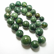 Incredible Large Green Agate Beads