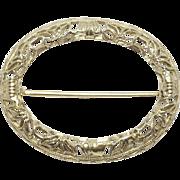 10K Art Deco Filigree Doll Small Lapel Brooch Pin