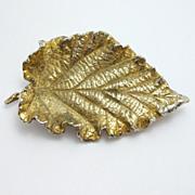 Napier Sterling Silver Detailed Leaf Brooch