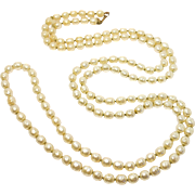 Opera Length Miriam Haskell Baroque Pearls Simulated Old