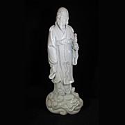 Blanc de Chine Dehau Chinese Immortal Figure Early 20th Century