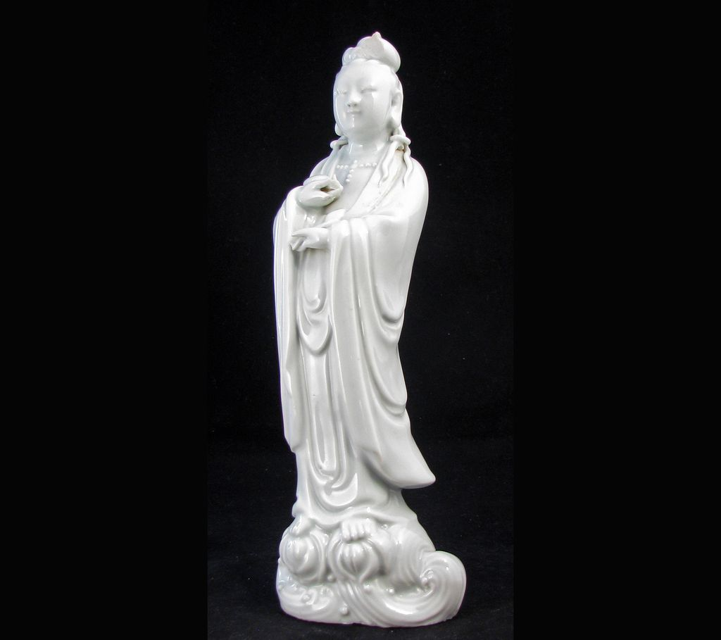Blanc de Chine Porcelain Figurine of Kuan Yin