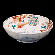 Japanese porcelain lmari bowl with Kirin 19th century