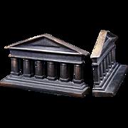 Greek Columns iron bookends by Judd circa 1925