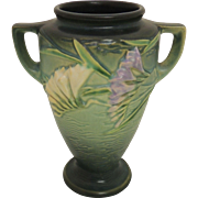 Standard finish Green Roseville Freesia 2 Handled Vase 121-8
