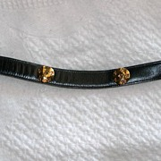 Navy Blue Wave Belt