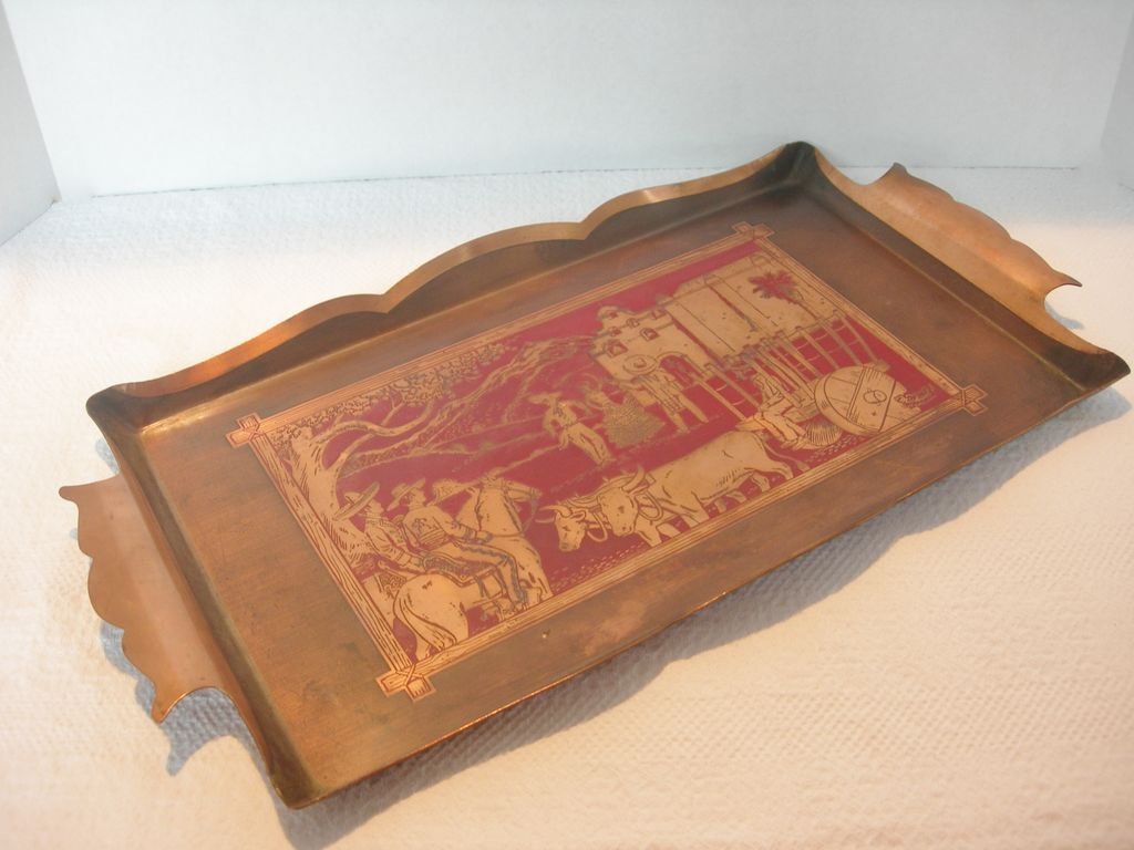 Gorgeous Copper Tray by Michael d of California