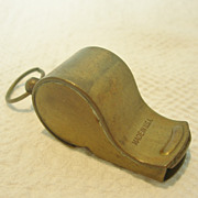 REDUCED Vintage Brass Military Whistle