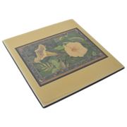 "Larry K. Stephenson ""Moonflower"" Ceramic Tile"