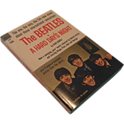 """The Beatles in A Hard Day's Night""  Paperback Book,  circa 1964"