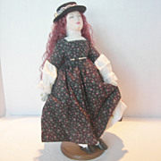 "Vintage Handmade Cloth ""Jo"" Doll From Little Women"