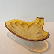 Vintage Murano Triangular Glass Dish