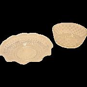 SALE PENDING Pair of Vintage Hobnail Bowls