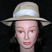 Lord & Taylor Woven Fedora