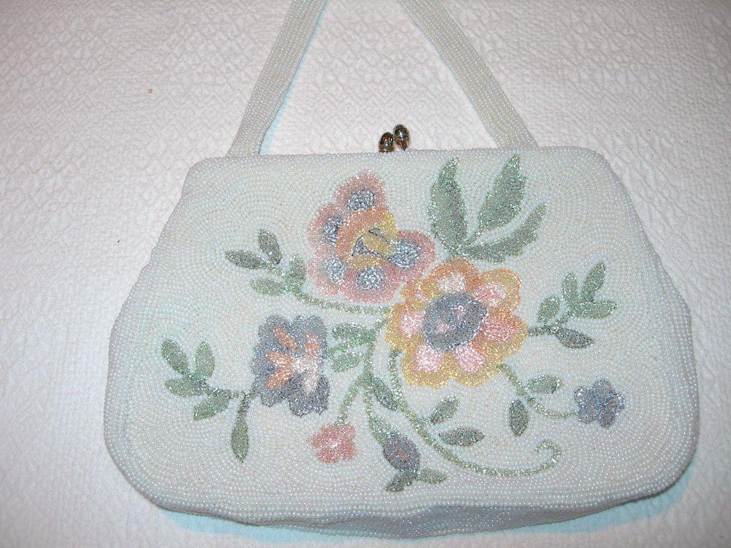 Vintage Glass Beaded Handbag
