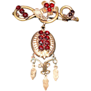 Victorian Vermeil and Garnet Brooch