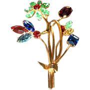 Coro-Craft Flower Brooch...with original bag