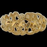 Vintage Gold tone Metal Givency Bracelet