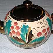 Wade Copper Luster Ware Tea Pot & Sugar Bowl