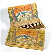 Set of 1920's Paramount Christmas Lamps / Lights - Early Composition Plug & Sockets - Nice Graphics