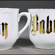 """Two Porcelain """"Baby"""" Cups - Perfect for Twins, but SOLD INDIVIDUALLY"""