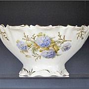 """Art Nouveau Bowl with Molded and Hand Painted Decoration by Kuno Steinmann - """"Silesia"""""""