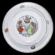 Antique Royal Baby - Plate - Bowl - Dish - Patented 1905 - Made in U.S.A.