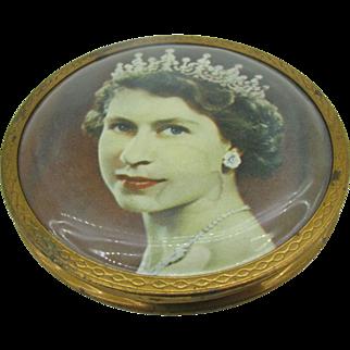 Made in England Queen Elizabeth Coronation compact