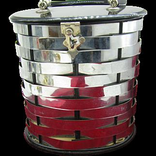 Vintage Dorset barrel purse Metal weave and black lucite