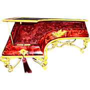 Antique Rare Red Tortoise Shell Vitrine 19th c, French, fantastic  Bronze mounts. Vitrine is in the form of a Piano                                                                                Bronze Mounts        bronze Mountes form of a Piano