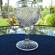 Stemmed Rose Bowl Goblet Vase Higbee 1905
