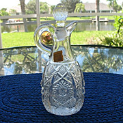 Cruet Imperial Glass Octagon aka Bellaire 1912