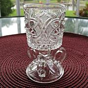 Toothpick Match Holder US Glass 1895-1905 3 Handle