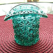 Daisy Button Hat Green Novelty Toothpick Holder