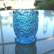 Daisy Button Blue Toothpick Holder