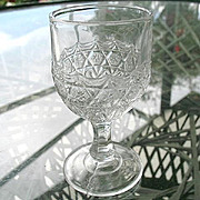 LaVerne aka Star in Honeycomb 1885 Small Wine Goblet #1