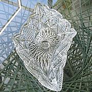 ABP Cut Huge Geometric Shape 17 in. Shallow Bowl