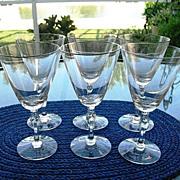 Fostoria 6 Platinum Rim 10 oz Water Goblets