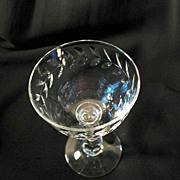 Rock Crystal 6 Cambridge Laurel Wreath Engraved Cocktail Glasses