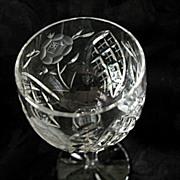 Vega Pattern Cordial Glass Vintage Imported Cut Lead Crystal