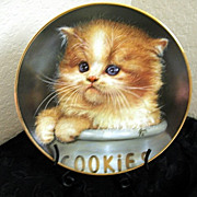 Collector Plate Ginger Snap 1993 Cameo Kittens Qua Lemonde