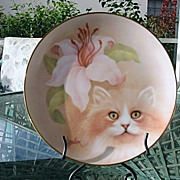 Petals and Purrs 1988 Bob Harrison Golden Fancy Collector Plate