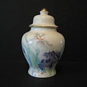 Ginger Jar  Iris Bouquet  Made in Japan Otagiri