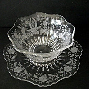 Bowl with Underplate Prelude Etch 1930s-1960s