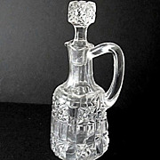 Cruet EAPG Stars Bars Bellaire Goblet ca 1892