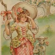 Nursery Rhyme Postcard- Little Bo Peep