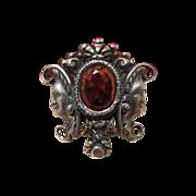 Silver and Garnet brooch, 19th century