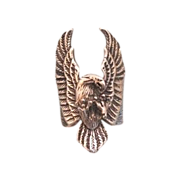Silver ring in the shape of an eagle, dated at about 1960
