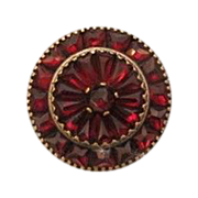 Victorian Garnet brooch set in silver plated metal, 19th century