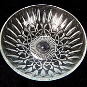 Vintage CRYSTAL Round Serving Bowl Cut Glass Brilliant Design